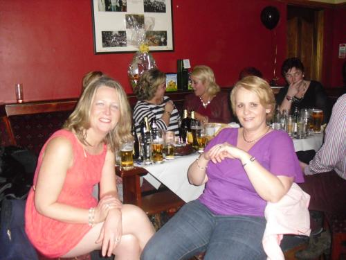 Good friends Norma O'Mahony and Paula Cregan
