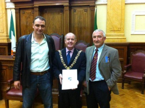 Derek O' Gorman, Lord Mayor Terry Shannon, Der O'Callaghan