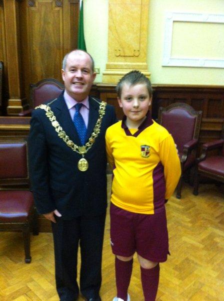 The Lord Mayor meets one of our players, May 2012
