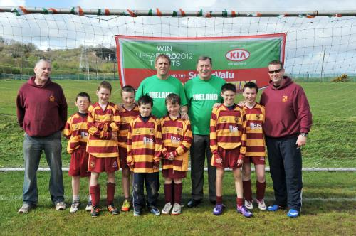 Packie & Tony with some of the Tramore lads 11 April 2012  image
