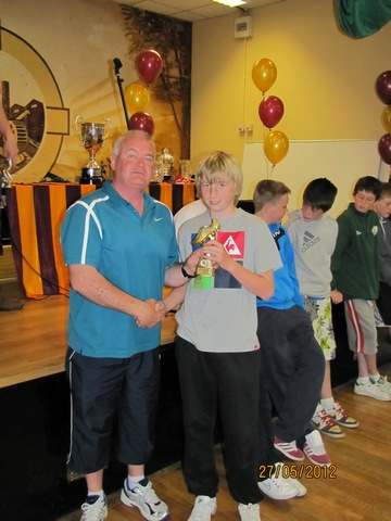 U14 Manager Aidan Fitton with Top Scorer 2012 David Hurley image
