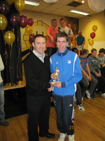 U15 Player of the Year 2012 Adam MyLod with Paul O' Mahoney image