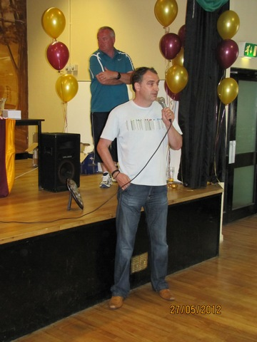 Former T.A.F.C. Chairman Derek O' Gorman saying a few words image