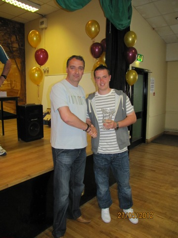 Clubman of the Year Jason O' Mahoney with Derek O' Gorman